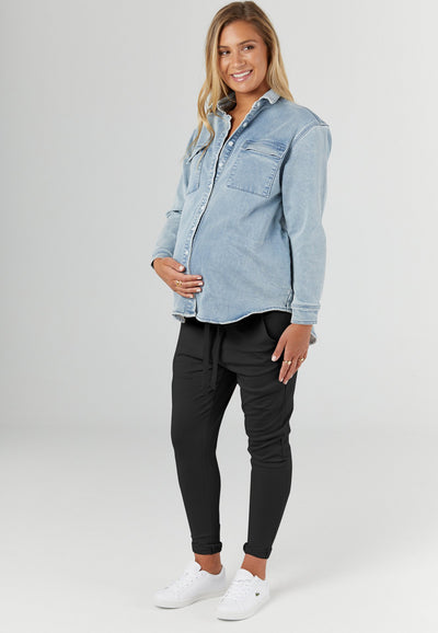 Milan Joggers. Maternity clothing Canada. Nursing tops Canada, affordable breastfeeding clothing. Fall pregnancy .Legoe Heritage Canada.