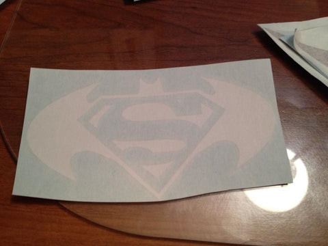 Batman / Superman Hybrid Symbol Decal