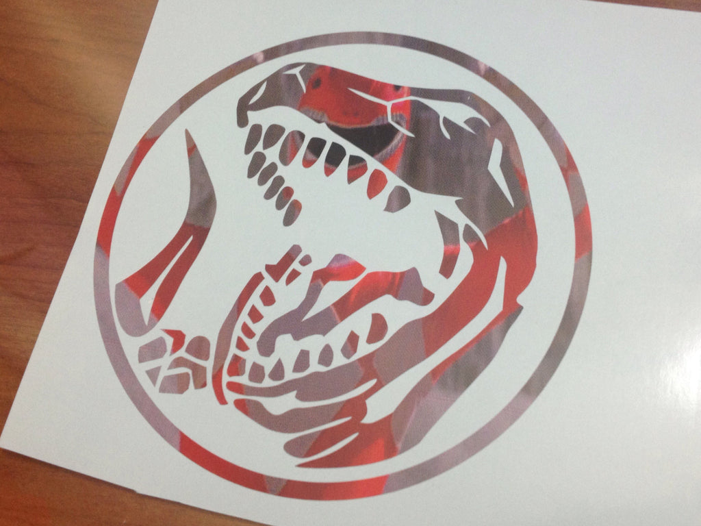 Tyrannosaurus Power Coin Decal Special Printed Version