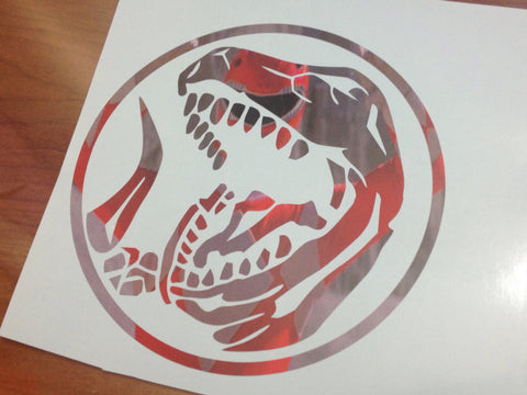 Tyrannosaurus Power Coin Decal - Special Printed Version