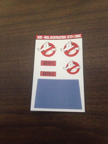 The Real Ghostbusters Ecto-1 Labels