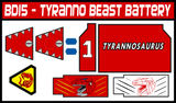 BOJ Tyranno Beast Battery Labels