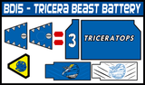 BOJ Tricera Beast Battery Labels