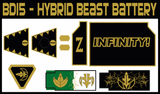 BOJ Hybrid Dragonzord / Tigerzord Beast Battery Labels