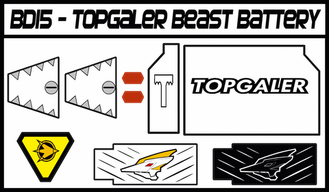 BOJ Topgaler Beast Battery Labels