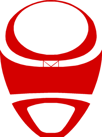 MegaRed Helmet (Front View) Decal