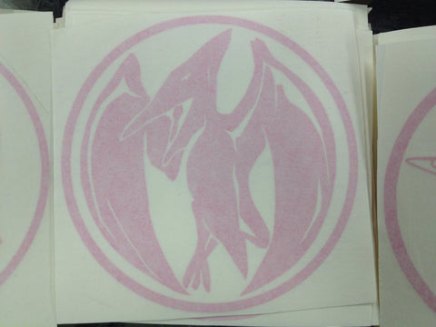 Pteradactyl Power Coin Decal
