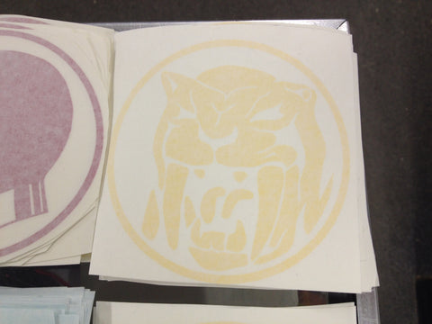 Saber-Tooth Power Coin Decal