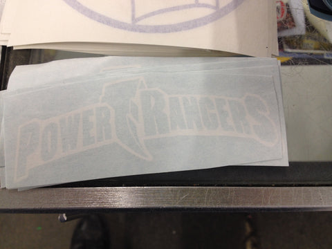Power Rangers Logo Decal