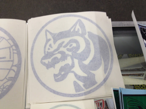 Wolf Power Coin Decal