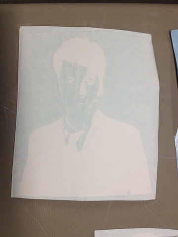 10th Doctor Silhouette Decal