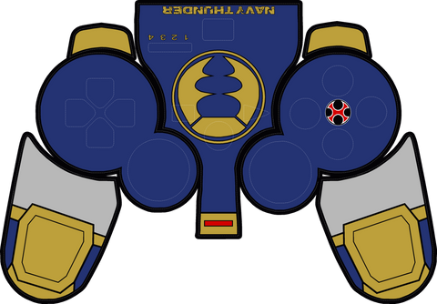 Navy Thunder PS3 Controller Skin