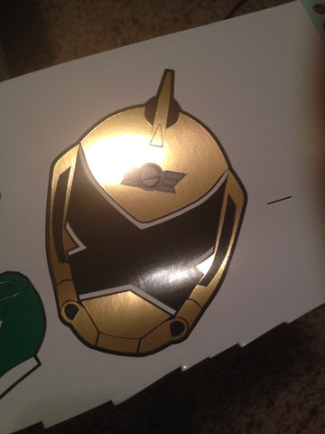 Go-On Gold Helmet Decal