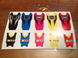 BOJ Ranger Key Labels - Megaranger