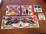Complete Super Megaforce Auxiliary Zord Labels Set