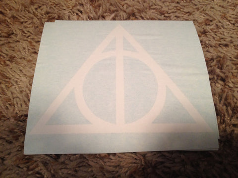 Deathly Hallows Symbol Decal