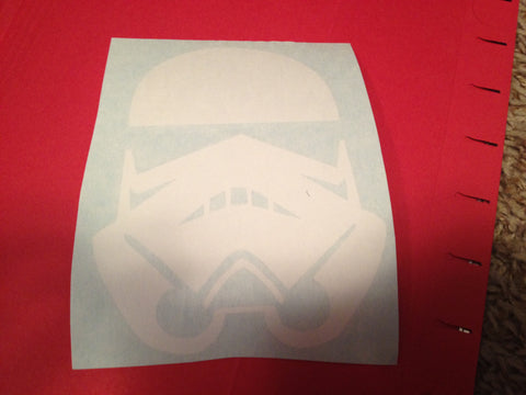 Storm Trooper Helmet Decal