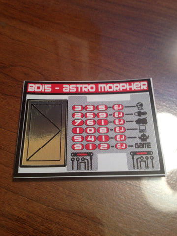 Astro Morpher Labels