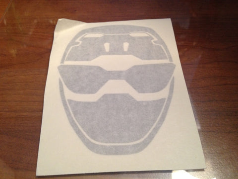 Blue Buster Helmet Decal