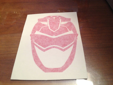 Red Buster Helmet Decal