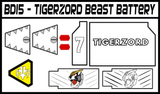 BOJ Tigerzord Beast Battery Labels