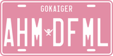 Gokai Pink License Plate