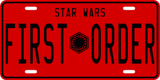 First Order License Plate