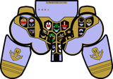 Gokai Silver (Gold Mode) PS3 Controller Skin