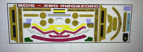 Zeo Megazord Labels