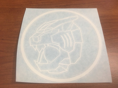 Tigerzord Zord Decal