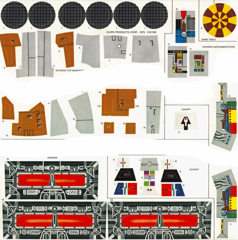 1979 Millennium Falcon Labels
