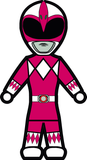 MMPR Pink - Stick Figure Family