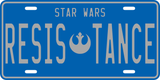 Resistance License Plate