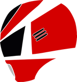 MegaRed Helmet (Side Profile) Decal