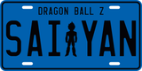 Super Saiyan Vegeta License Plate