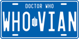 Whovian License Plate