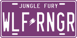 Wolf Ranger License Plate