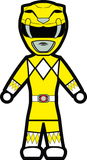 MMPR Yellow - Stick Figure Family