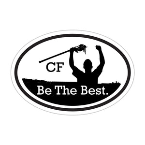 CF Be The Best. | Oval Stickers (5-Pack)