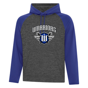 Surrey Warriors - Dynamic Heather Two Tone Performance Hoodie - Black/ Royal Blue (Booking Only)