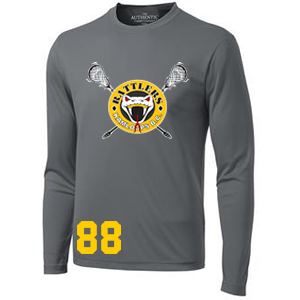 Kamloops Rattlers -  Performance Long Sleeve Shooter Shirt - Coal Grey (Booking Only)