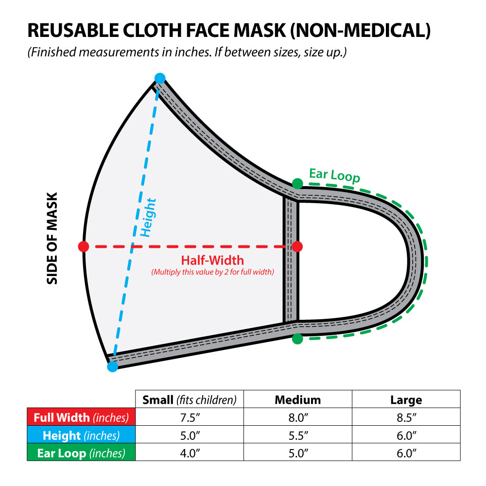 MMS | Reusable Face Mask (2 for $20 Combo)