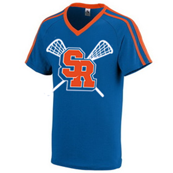Surrey Rebels - Retro Shoulder Stripe T-Shirt - Royal (Booking Only)