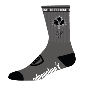 Chris Friesen - Be The Best. Sock by ADRLN Lacrosse *Proceeds Benefit SFU Chris Friesen Memorial Award* (Limited Edition)
