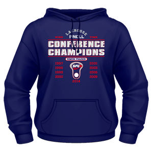SFU Lacrosse - Nine Time PNCLL Conference Champs - Heavy Blend Cotton Hoodie (Limited Edition)