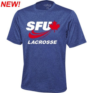 SFU Lacrosse - Primary Logo Performance Shirt - Colbalt Heather