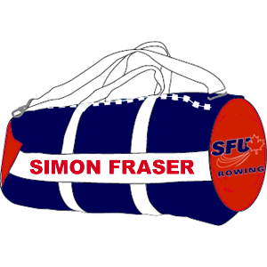 SFU Rowing - Duffel Bag (Booking Only)  *Customizable with Athlete Name*