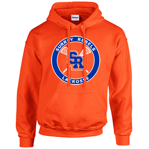 Surrey Rebels - Classic Logo Heavy Blend Cotton Hoodie - Orange (Booking Only)