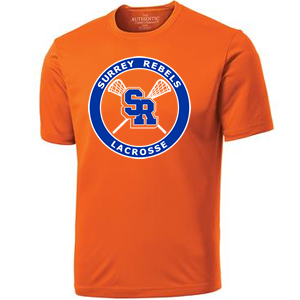 Surrey Rebels - Classic Logo Performance Shirt - Orange (Booking Only)