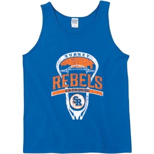 Surrey Rebels - City Logo Cotton Tank Top - Royal (Booking Only)